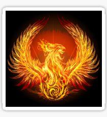 burning phoenix   Sticker