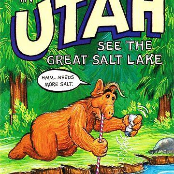 Utah Great Salt Lake Estados Unidos de ALF Travel Decal de hackeycard
