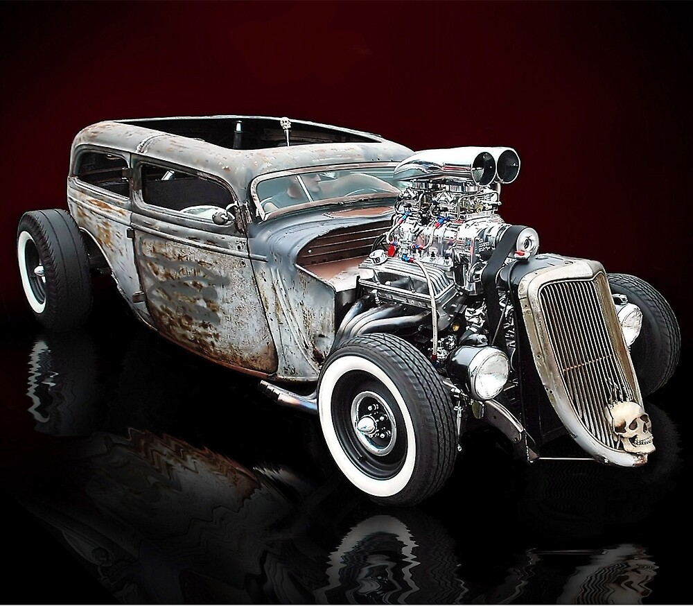 Rat Rod Studios Rat Rod Calendar 1 January by ratrodstudios