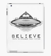 UFO Believe Shirt iPad Case/Skin