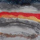 Setting (fluid art on canvas) by David Pringle