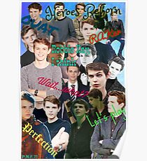Robbie Kay collage Poster