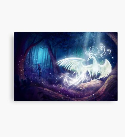 The mystical stag Canvas Print