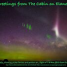 An aurora image to promote our Airbnb cabin by Odille Esmonde-Morgan