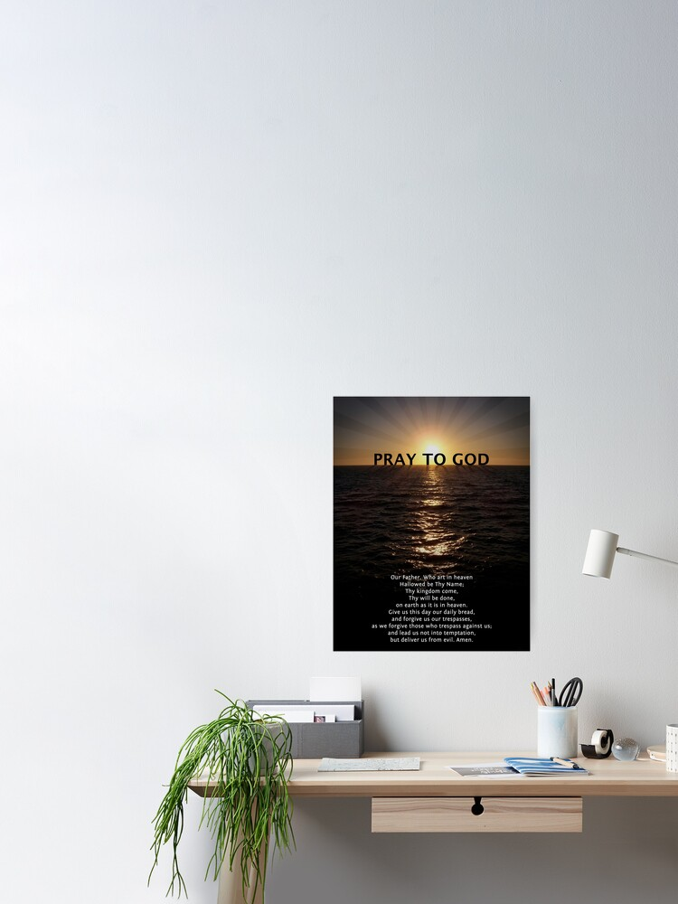 Alternate view of Our Father Prayer Poster