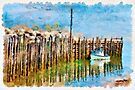 Margaretsville Wharf - watercolour by PhotosByHealy
