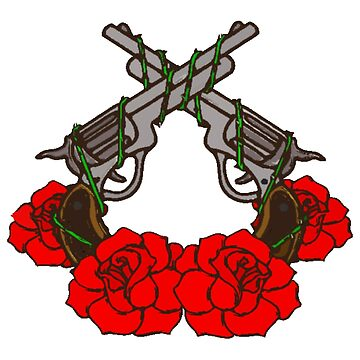 Rose And Gun Motif by AJPeacock