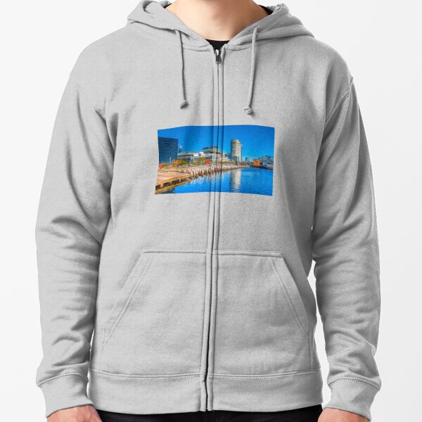 Reflections at Docklands - Melbourne, Victoria Zipped Hoodie