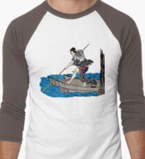 Vintage Asian Boatman - Cool Retro Hipster Design Men's Baseball ¾ T-Shirt