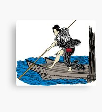 Vintage Asian Boatman - Cool Retro Hipster Design Canvas Print