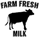 Farm Fresh Milk Sign by RenJean