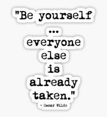 Oscar Wilde Be Yourself Sticker