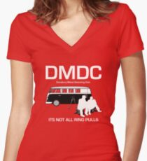 DMDC It's not all ring pulls. Women's Fitted V-Neck T-Shirt