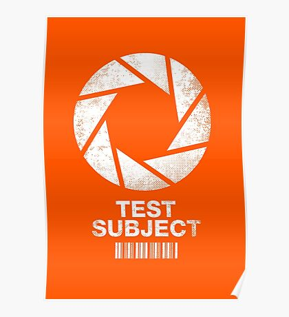 Test Subject Poster