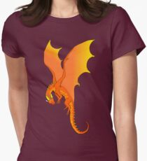 Brightness - Orange Dragon Womens Fitted T-Shirt