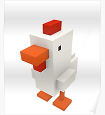 Guess What Chicken Butt Funny Boxel Voxel Style Graphic Tee Sarcastic best Poster