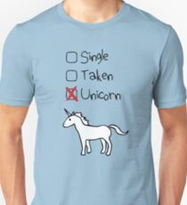 Single? Genommen? Einhorn! Slim Fit T-Shirt
