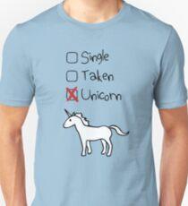 Single? Genommen? Einhorn! Slim Fit T-Shirt
