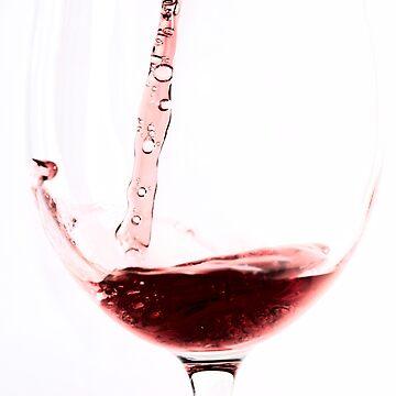 Red wine into wine glass by ArveBettum
