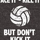 Don't Kick the Volleyball Sports Graphic Tee Funny Sarcastic Shirt by DesIndie