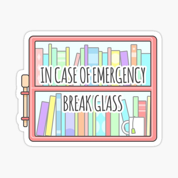 Emergency Bookshelf Sticker