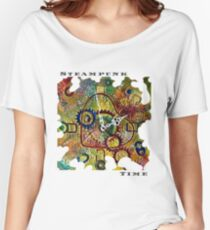 STEAMPUNK LOVE - STEAMPUNK TIME  Women's Relaxed Fit T-Shirt