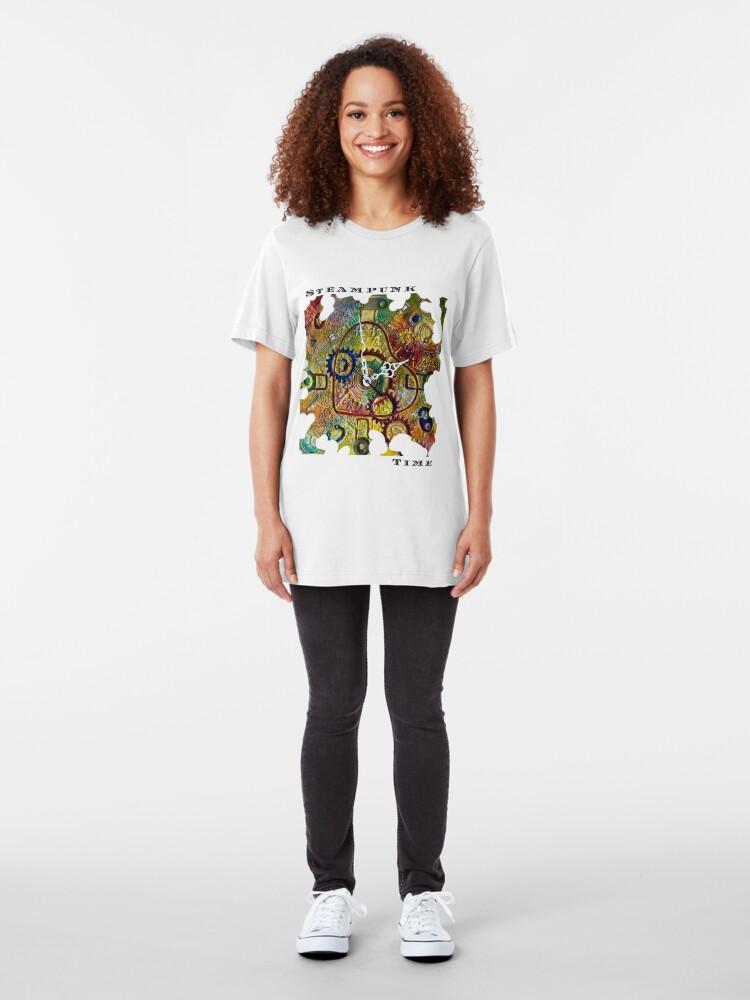 Alternate view of STEAMPUNK LOVE - STEAMPUNK TIME  Slim Fit T-Shirt