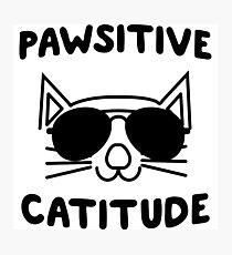 Pawsitive Catitude Photographic Print
