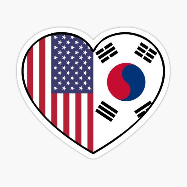 USA und Südkorea Sticker