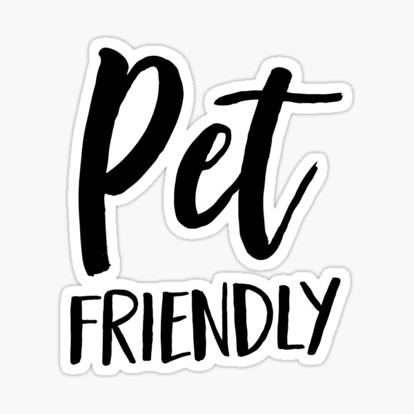 Mascota amigable Pegatina