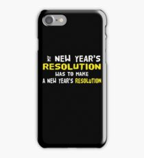 New Year's Resolution Success iPhone Case/Skin