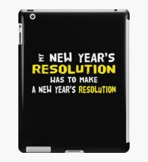 New Year's Resolution Success iPad Case/Skin