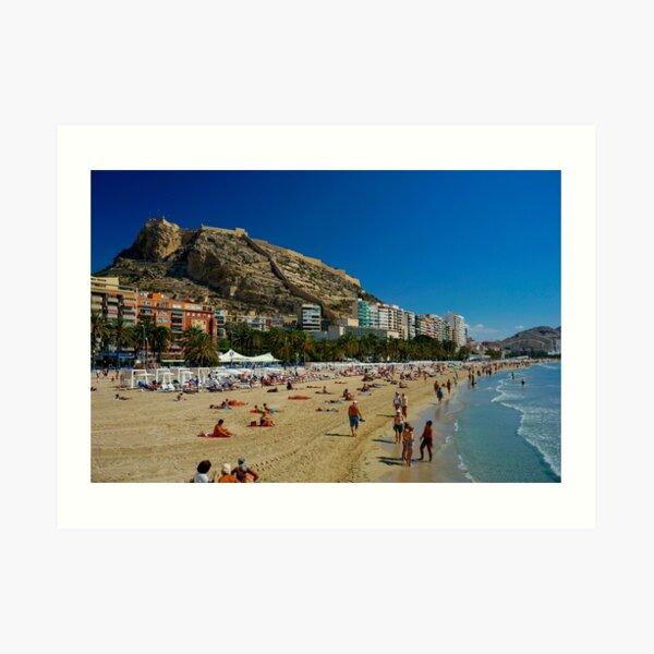Alicante Beach, Spain Art Print