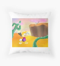 Desert Level Concept Throw Pillow