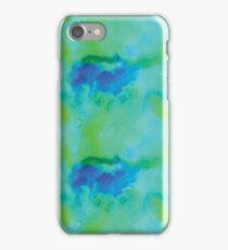 Sea foam, tye dye, northern lights, boho print iPhone Case/Skin