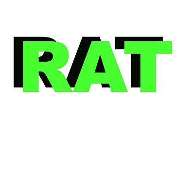RAT HOE TWITTER SLANG MEME SHOOK  by slapstyk