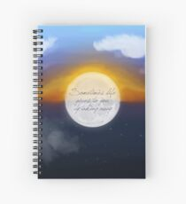 Sometimes Life Gives by Taking Away - Carrie Fisher Memorial Journal Spiral Notebook