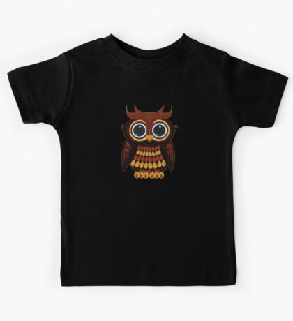 Friendly Owl - Black Kids Clothes