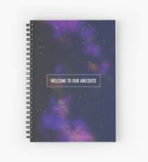 Welcome To Our Anecdote - Carrie Fisher Memorial Journal Spiral Notebook