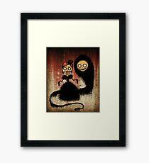Creepy Pop Surrealism Art Framed Print