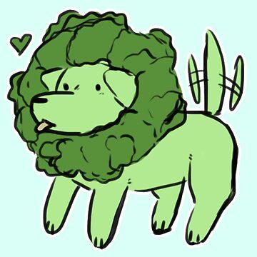 Broccoli Lion Dog by locozozo