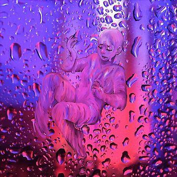 pink and purple rain by locozozo