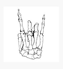 Skeleton Rocker Hand Photographic Print