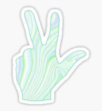 Swirly YL Hand Sticker