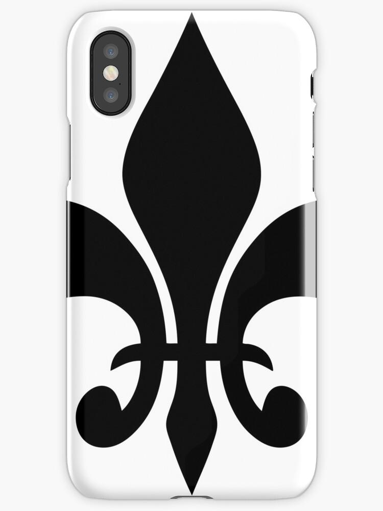 Fleur De Lis Symbol Pillow Iphone Cases Covers By Mrtshirtguy