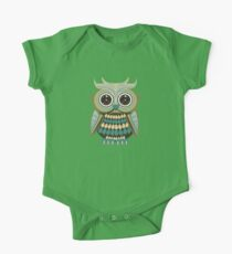 Star Eye Owl - Green 2 One Piece - Short Sleeve