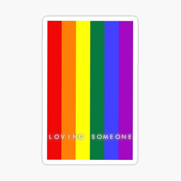 El amor es el amor. Pegatina