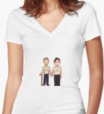 If found - House & Wilson Women's Fitted V-Neck T-Shirt