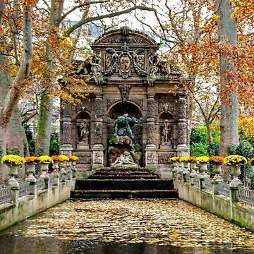 Medici Fountain Luxembourg Gardens Paris by PaulCoore