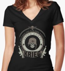 KRIEG - BATTLE EDITION Women's Fitted V-Neck T-Shirt